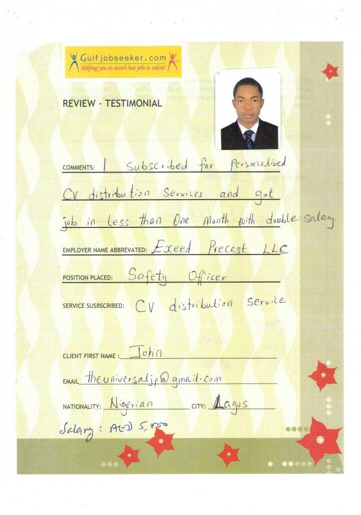 Gulfjobseeker Review by John Safety Officer Reg No 390251